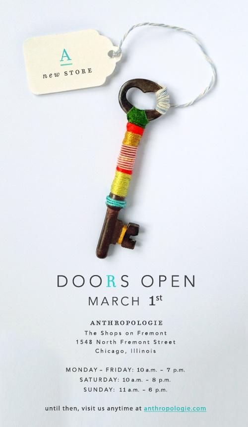 Приглашение на открытие магазина Anthropologie
